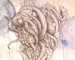 Ajim Juxta - Matikatak: Belit (2014) - Acrylic and ink on canvas - 75 x 75 cm