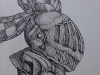 Ajim Juxta, Tugu (2016), PITT Artist Pen , 42 x 59 cm