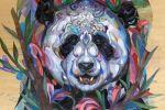 Haris Rashid Panda 2015 (130cm x 99cm) Acrylic on wood panel