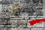 Dedy Sufriadi - Borderless Series: Texts of Feminism (2015) - Acrylic, Oil & Oilstick on Canvas - 100 x 120 cm