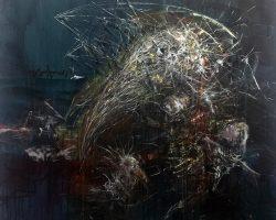 Ajim Juxta - Dystopians: Dance of the Clairvoyants (2020) - Acrylic on Canvas - 152.5 x 152.5 cm