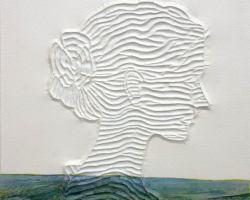 Taufik Ermas - Nomadic Portrait 1 (2020) - Acrylic on Modified Canvas - 55 x 45 cm