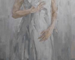 Caryn Koh - Dim (2019) - Oil on Canvas - 165 x 75 cm