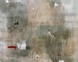 Dedy Sufriadi - Lorem Ipsum: Object #1 (2017) - Acrylic, Marker, Oilstick, Pencil & Spray Paint on Canvas - 150 x 150 cm (SOLD)
