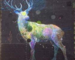 Afdhal - Aura #2 (2018) - Acrylic on Canvas - 50 x 50 cm