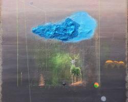 Afdhal - Aura #3 (2018) - Acrylic on Canvas- 50 x 50 cm