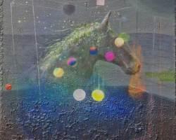 Afdhal - Aura #4 (2018) - Acrylic on Canvas - 50 x 50 cm