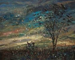Eston Tan - Home Sweet Home (2014) - Oil on Jute - 80 x 100 cm
