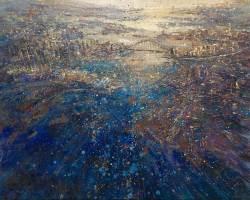 Eston Tan - The Symphony of Sydney Harbour (2016) - Oil on Linen - 80 x 100 cm