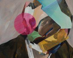 Iqi Qoror - Bentuk Wajah #2 (2018) - Acrylic and Wool on Canvas - 100 x 100 cm