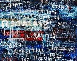 Dedy Sufriadi - Hypercount #3 (2019) - Mixed Media on Canvas - 200 x 150 cm