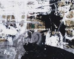 Dedy Sufriadi - Tabula Rasa  #5 (Alegory) (2018) - Acrylic, Marker, Oil Stick and Pencil on Canvas - 150 x 150 cm