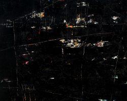 Dedy Sufriadi - Tabula Rasa (2018) - Acrylic, Marker, Oil Stick and Pencil on Canvas - 150 x 150 cm
