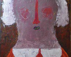 Indra Dodi - White Hair Women (2017) - Acrylic on Canvas - 80 x 60 cm