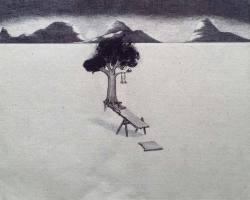 Syahbandi Samat - Bare with me (Turn) (2019) - Ballpoint Pen on Canvas - 42 x 52 cm