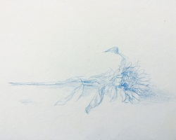 Caryn Koh - Her Wall of Mine I (Series #7) (2018) - Color Pencil on Paper - 15.7 x 20.9 cm