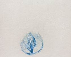 Caryn Koh - Her Wall of Mine I (Series #11) (2018) - Color Pencil on Paper - 20.6 x 15.8 cm
