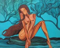 Allure No.2 (2015)- Acrylic on Canvas - 91.5 x 91.5 cm