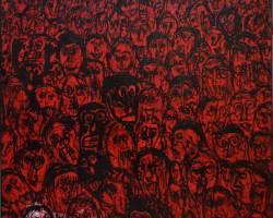 Dedy Sufriadi - Childish Series: WeFi (2020) - Acrylic-on Canvas - 150 x 150 cm