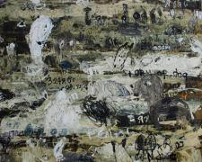 Dedy Sufriadi - Dog Whisperer (2014) - Mixed Media on Canvas - 195 x 195 cm