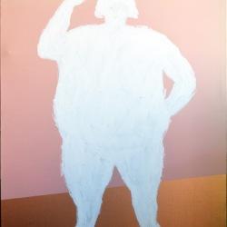 Dedy Sufriadi - Hello (2015) - Acrylic on Canvas - 100 x 80 cm