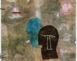 Dedy Sufriadi - Lorem Ipsum: Mask and Tragedy #1 (2017) - Acrylic, Marker, Oilstick, Pencil & Spray Paint on Canvas - 150 x 150 cm - Art Fair Philippines 2018
