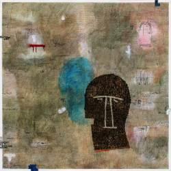 Dedy Sufriadi - Lorem Ipsum: Mask and Tragedy #1 (2017) - Acrylic, Marker, Oilstick, Pencil & Spray Paint on Canvas - 150 x 150 cm (SOLD)