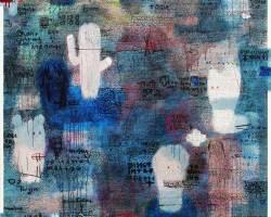 Dedy Sufriadi - Lorem Ipsum: Mask and Tragedy #4 (2017) - Acrylic, Marker, Oilstick, Pencil & Spray Paint on Canvas - 150 x 150 cm - Art Fair Philippines 2018
