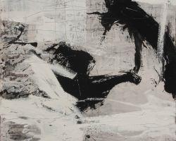 Dedy Sufriadi - Tabula Rasa #6 (2018) - Acrylic, Marker, Oil Stick and Pencil on Canvas - 150 x 150 cm