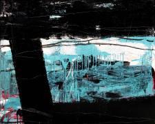 Dedy Sufriadi - Tabula Rasa #8 (2018) - Acrylic, Marker, Oil Stick and Pencil on Canvas - 150 x 150 cm