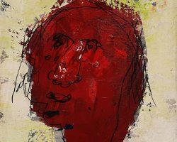 Dedy Sufriadi - Wajah (Face) 13.04 (2013) - Mixed Media on Canvas - 30 x 30 cm