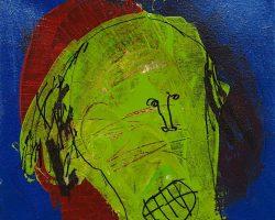 Dedy Sufriadi - Wajah (Face) 13.06 (2013) - Mixed Media on Canvas - 30 x 30 cm