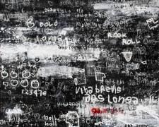 Dedy Sufriadi - Ars Longa Vita Brevis #2 (2016) - Acrylic, Marker & Oil Stick on Canvas, 200 x 200 cm