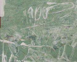 Dedy Sufriadi - Tabula Rasa: None (2019) - Acrylic, Marker and Oil Stick on Canvas - 150 x 150cm