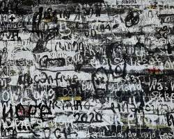 Dedy Sufriadi - Redemption Songs #1.20 (2020) - Acrylic on Canvas - 150 x 250 cm