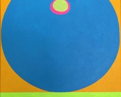 Bibichun - Blue Tit (2018)- Acrylic on Canvas - 35.5 x 28 cm