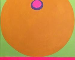 Bibichun - Mandarin Tit (2018) - Acrylic on Canvas - 35.5 x 28 cm