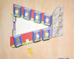 Sattama - Iklan Papan Räkfrik Keluaran Syarikat Bugi (2019) -Acrylic Paint and Acrylic Resin Matt Coat on MDF Board and Plywood - 122 x 91.5 cm