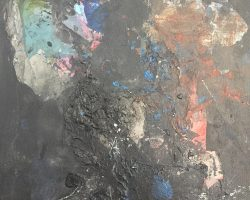 Ajim Juxta - Studies (2 of 6) (2018) - Mixed Media on Canvas - 35.5 x 22.5 cm