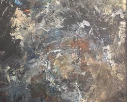 Ajim Juxta - Studies (3 of 6) (2018) - Mixed Media on Canvas - 35.5 x 22.5 cm