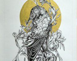 Haris Rashid - Allure (2017) - Ink & Marker on Paper - 70 x 50 cm