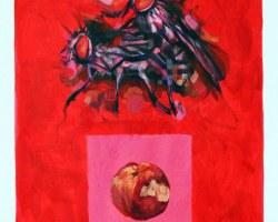 Haris Rashid - Seven Deadly Sins: Luxuria (Lust) (2016) - Mixed Media on Watercolor Paper - 70 x 50 cm