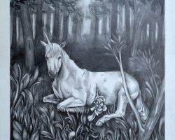 Haris Rashid - Majesty (2017) - 58 x 50 cm - Pencil on Paper