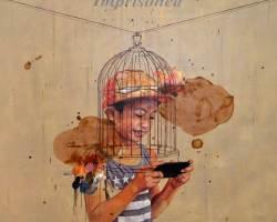 Ruzzeki Harris - Imprisoned (2016) - Oil & Spray Paint on Canvas - 130 x 130 cm
