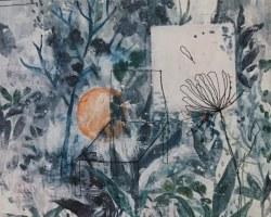 Vijo Zhijune - 我们的欲望侵占了它 (2017) - Mixed Media on Canvas - 36 x 32 cm