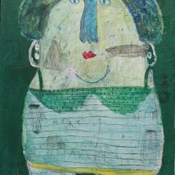 Indra Dodi - Figure 312 (2015) - Acrylic on Canvas - 90 x 70 cm