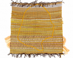 Iona Danald - Mother Hen (Julita) (2020) - Vintage Wool collected from family members and charity shops - 45.75 x 45.75 cm (18 x 18 in.)