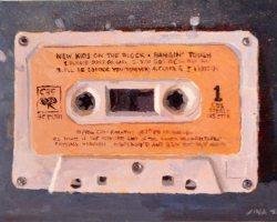 Lina Tan - NKOTB Cassette Tape (2019) - Acrylic on Canvas Board- 25 x 36 cm (SOLD)