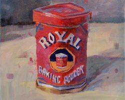 Lina Tan - Royal Baking Powder Tin (2019) - Acrylic on Canvas - 31 x 31 cm