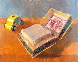 Lina Tan - Samfong Hoi Tong Pressed Powder 2 (2019) - Acrylic on Canvas - 60 x 60 cm